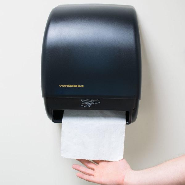 Black Hands Free Paper Roll Towel Dispenser With Motion Sensor