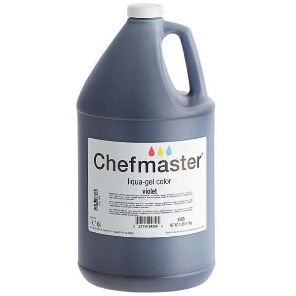 Chefmaster 1 Gallon Violet Liqua-Gel Food Coloring Main Image 1