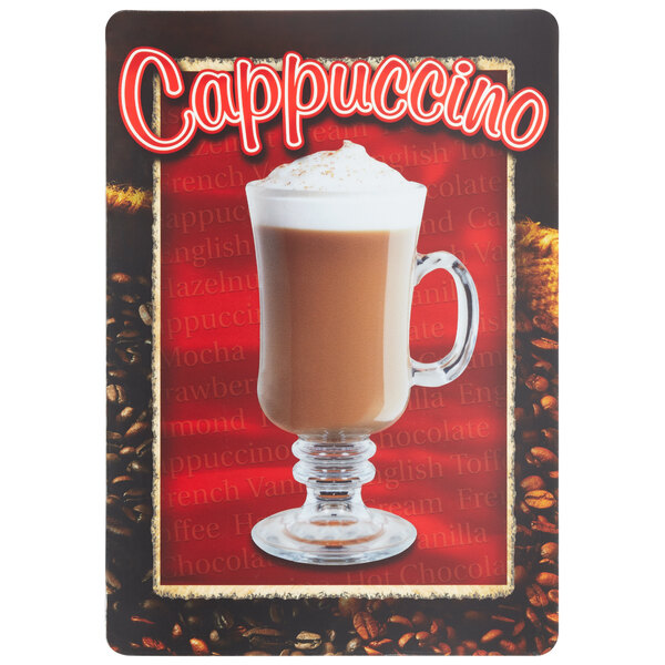 Bunn 28362.0000 Replacement Cappuccino Display Graphic for Coffee Brewers Main Image 1