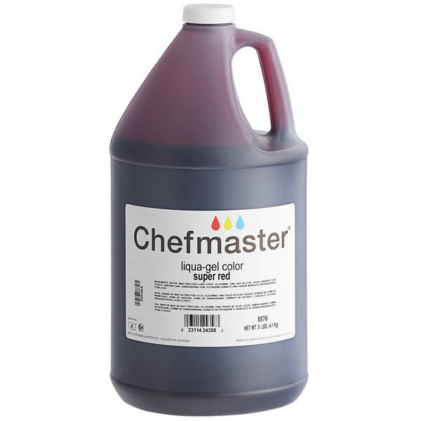 Chefmaster 1 Gallon Super Red Liqua-Gel Food Coloring Main Image 1