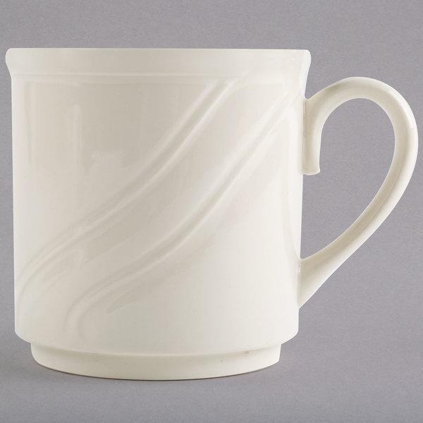 Homer Laughlin 6191000 8.25 oz. Ivory (American White) China Mug - 36/Case