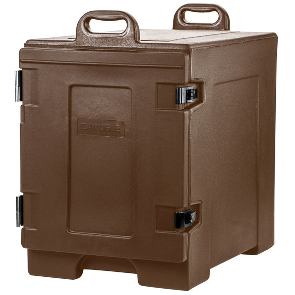 Carlisle PC300N01 Cateraide™ Brown Front Loading Insulated Food Pan Carrier - Holds 5 Pans Main Image 1