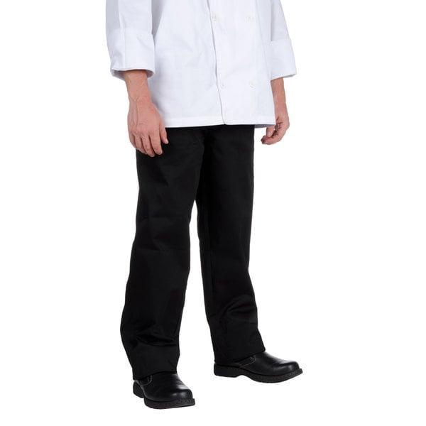 Chef Revival P002BK Size S Black EZ Fit Chef Pants - Poly-Cotton