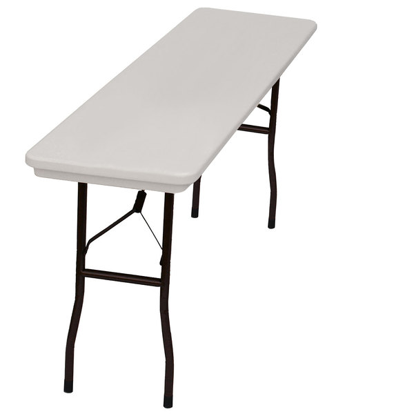"Correll Folding Table, 18"" x 72"" Tamper-Resistant Plastic, Gray - RX1872"
