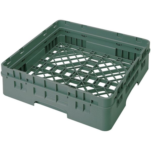 Cambro BR414119 Sherwood Green Camrack Full Size Open Base Rack with 1 Extender Main Image 1