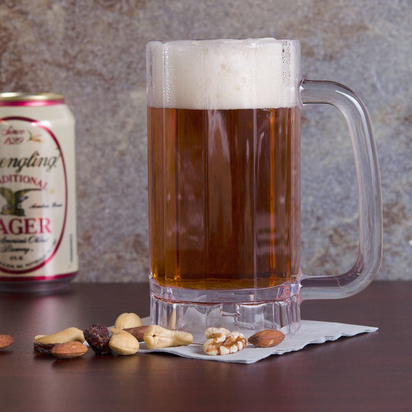 GET 00086-1-SAN-CL 16 oz. SAN Plastic Beer Mug - 24/Case Main Image 2
