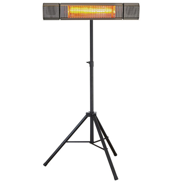 Hercules Heat AGL062-150KB-S Outdoor Patio Heater with Bluetooth Speakers and Stand Main Image 1