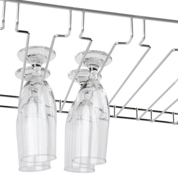 "Regency 18"" x 48"" 11 Slot Chrome Wire Bar Glass Rack Main Image 8"