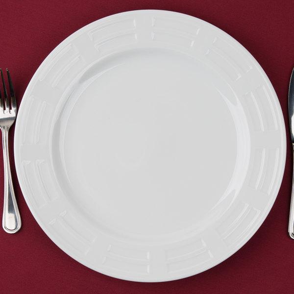 "10 Strawberry Street SORR0024 Sorrento 12"" Round White Porcelain Charger Plate - 12/Case"