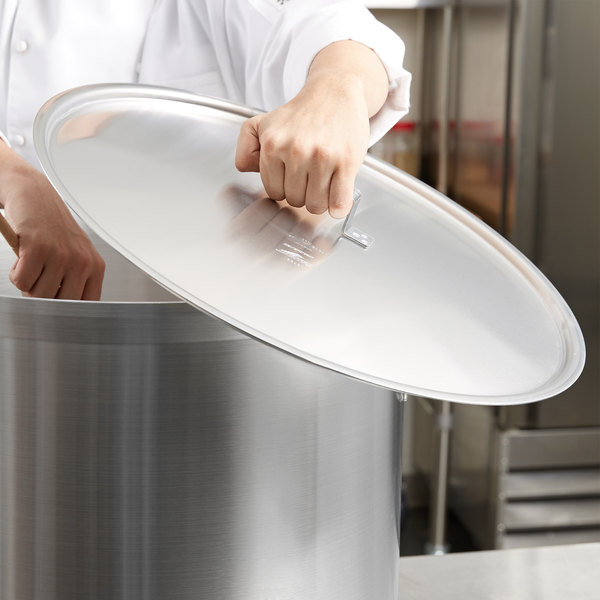 "Vollrath 67491 Wear-Ever Domed Aluminum Pot / Pan Cover with Torogard Handle 20 7/8"" Main Image 6"
