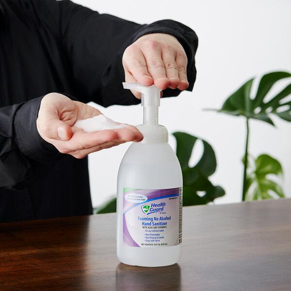 Kutol 68291 Health Guard 18 oz. Foaming Light Linen No Alcohol Instant Hand Sanitizer Main Image 2