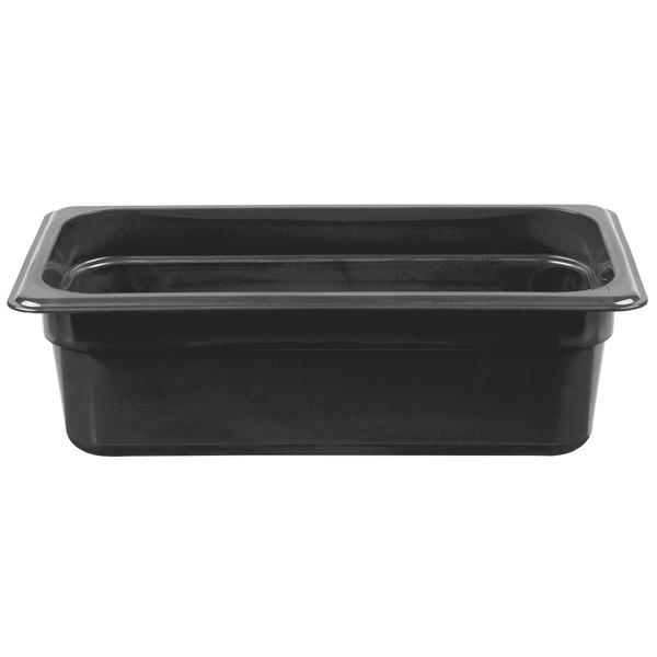 Cambro 34HP110 H-Pan 1/3 Size Black High Heat Food Pan - 4 inch Deep