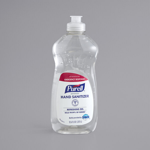 Purell® 9747-12-S Emergency Response 12.6 oz. Advanced Hand Sanitizer Refreshing Gel DAWN Bottle - 12/Case