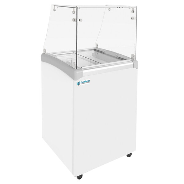 """Excellence EDC-4HC 25"""" Straight Glass Ice Cream Dipping Cabinet Main Image 1"""