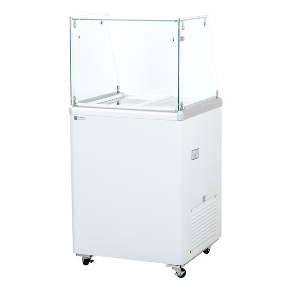 Excellence EDC-4 25 inch Straight Glass Ice Cream Dipping Cabinet
