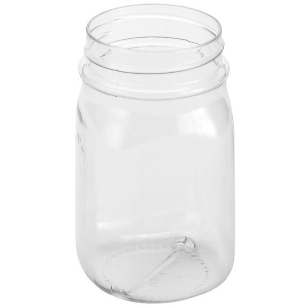 American Metalcraft PMJ16 16 oz. Plastic Drinking Jar / Mason Jar Main Image 1