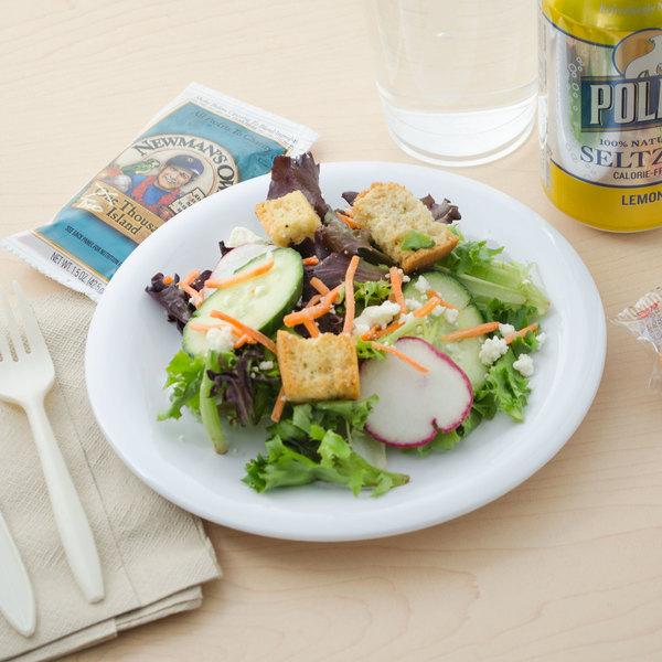 "Carlisle 3301602 Sierrus 7 1/2"" White Wide Rim Melamine Salad Plate - 48/Case"