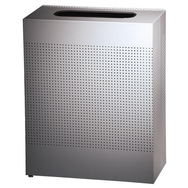 Rubbermaid FGSR18SSPL Silhouettes Stainless Steel Designer Rectangular Waste Receptacle - 40 Gallon