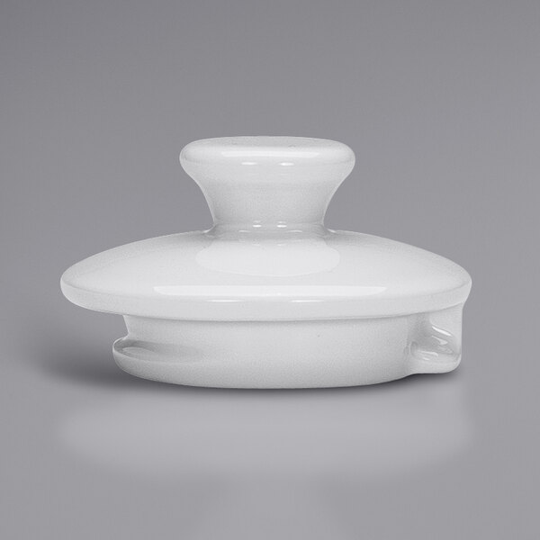 Bauscher by BauscherHepp 544162 Bonn Bright White Porcelain Coffee Pot Lid - 12/Case Main Image 1