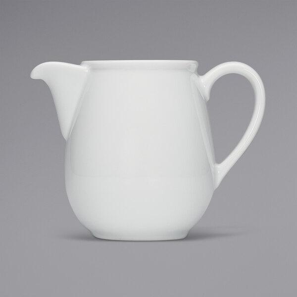 Bauscher by BauscherHepp 544161 Bonn 20.3 oz. Bright White Porcelain Coffee Pot - 12/Case Main Image 1