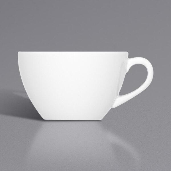 Bauscher by BauscherHepp 275195 Bonn 15.2 oz. Bright White Porcelain Cup - 36/Case Main Image 1