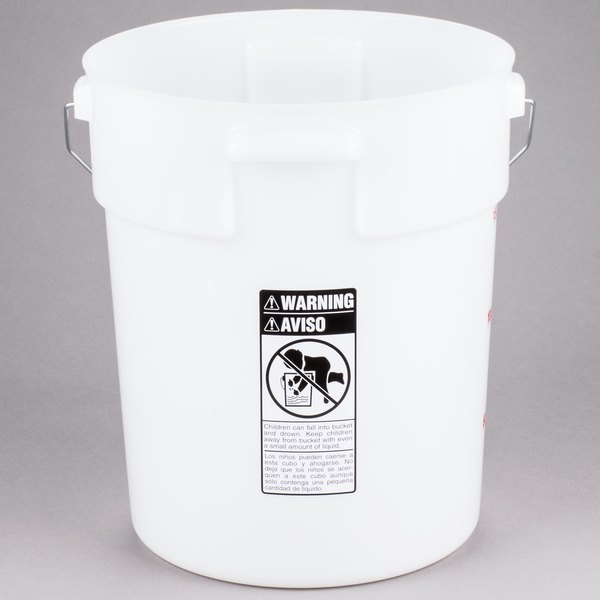 Cambro Pwb22148 22 Qt Customizable Poly Pail Bucket