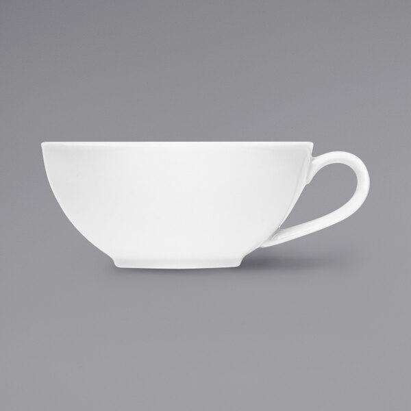 Bauscher by BauscherHepp 725172 Bonn 7.4 oz. Bright White Porcelain Tea Cup - 36/Case Main Image 1