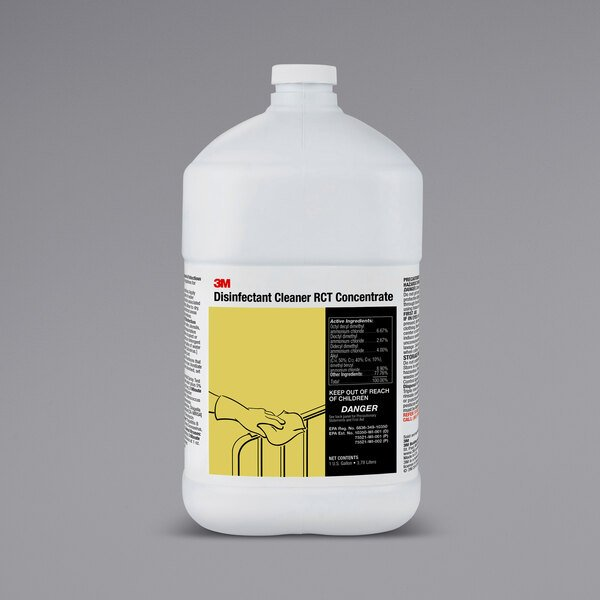 3M 85785 1 Gallon / 128 oz. RCT Disinfectant Cleaner Concentrate - 4/Case Main Image 1