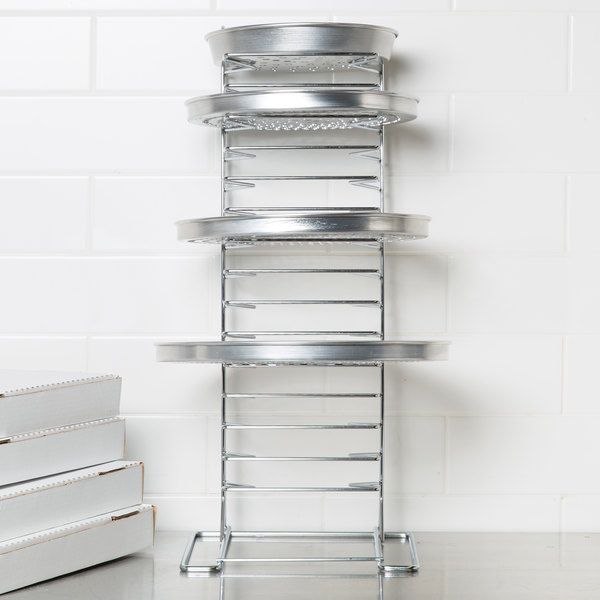 15 Shelf Pizza Pan Rack Assembled Main Image 4