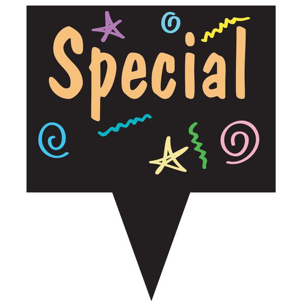 "Rectangular Chalkboard Deli Sign Spear 2"" x 1 1/2"" - 50/Pack Main Image 2"