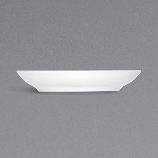 "Bauscher by BauscherHepp 546920 Bonn 5 5/8"" Bright White Round Porcelain Saucer - 36/Case Main Image 1"