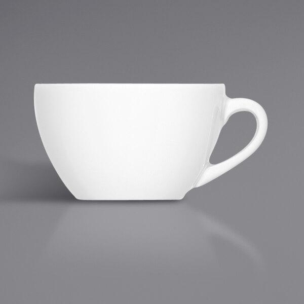 Bauscher by BauscherHepp 275168 Bonn 6.4 oz. Bright White Porcelain Cup - 36/Case Main Image 1