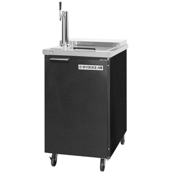 Beverage-Air BM23HC-C-B Single Tap Club Top Kegerator Beer Dispenser - Black, (1) 1/2 Keg Capacity Main Image 1
