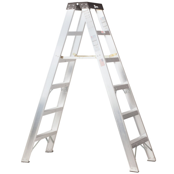 Bauer Corporation 20010 200 Series Type 1A 10' Aluminum 2-Way Step Ladder - 300 lb. Capacity Main Image 1