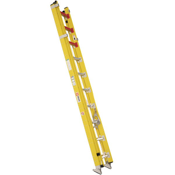 Bauer Corporation 31520 315 Series Type 1AA 20' Yellow Fiberglass Extension Ladder - 375 lb. Capacity Main Image 1