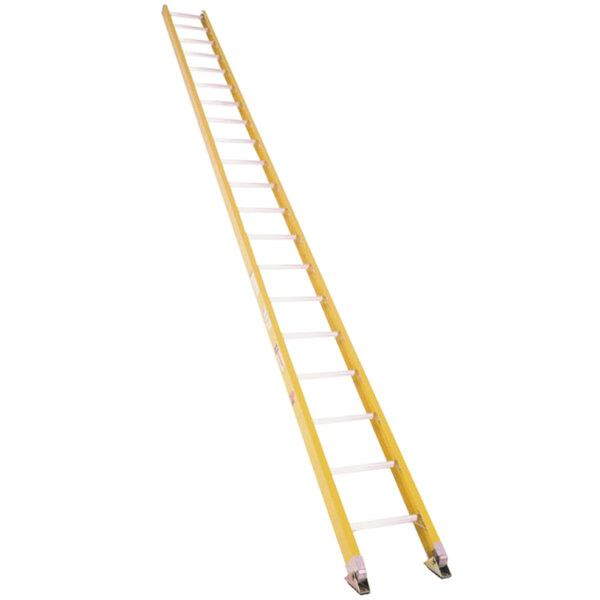 Bauer Corporation 33020 330 Series Type 1A 20' Yellow Fiberglass Straight Ladder - 300 lb. Capacity Main Image 1