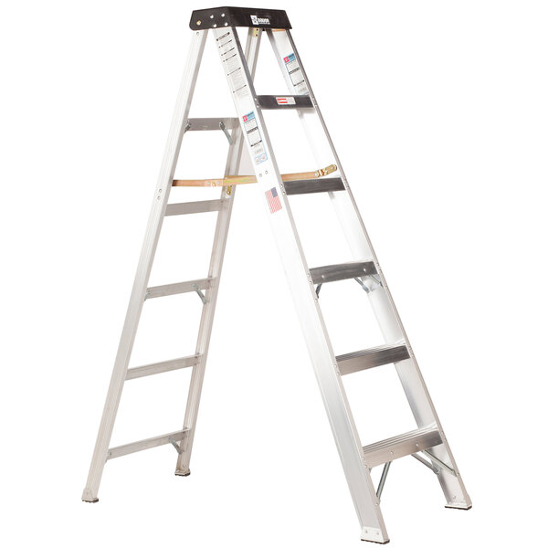 Bauer Corporation 20108 201 Series Type 1A 8' Aluminum Step Ladder - 300 lb. Capacity Main Image 1