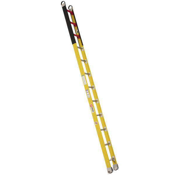 Bauer Corporation 33616 336 Series Type 1A 16' Safety Yellow Fiberglass Vault Ladder - 300 lb. Capacity Main Image 1