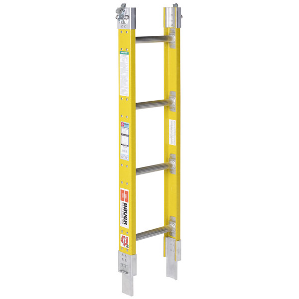 """Bauer Corporation 33334 333 Series Type 1A 4' Add-On Parallel Rail Sectional Ladder - 300 lb. Capacity - 17 3/4"""" Wide Main Image 1"""
