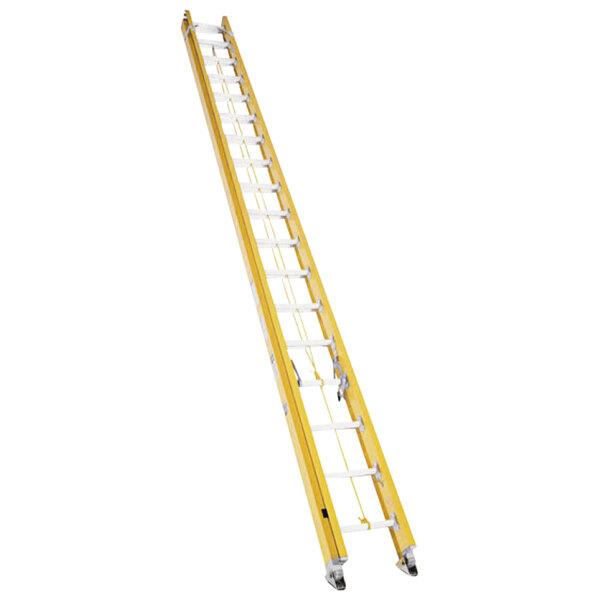 Bauer Corporation 31540 315 Series Type 1A 40' Yellow Fiberglass Extension Ladder - 300 lb. Capacity Main Image 1