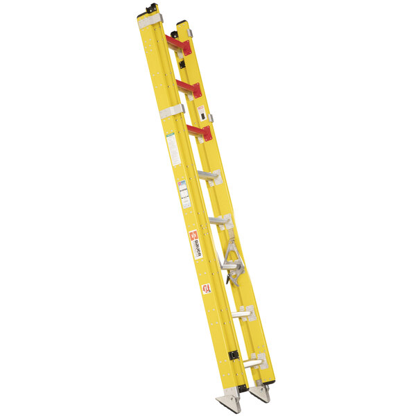 Bauer Corporation 31516 315 Series Type 1AA 16' Yellow Fiberglass Extension Ladder - 375 lb. Capacity Main Image 1