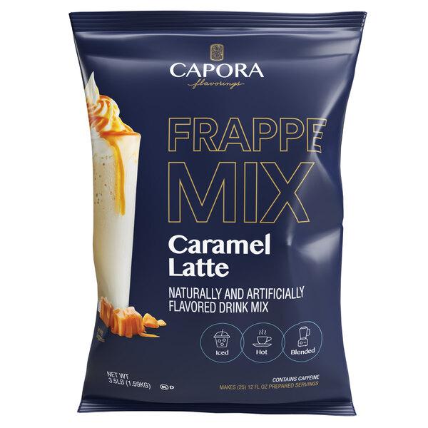 Capora 3.5 lb. Caramel Latte / Frappe Mix