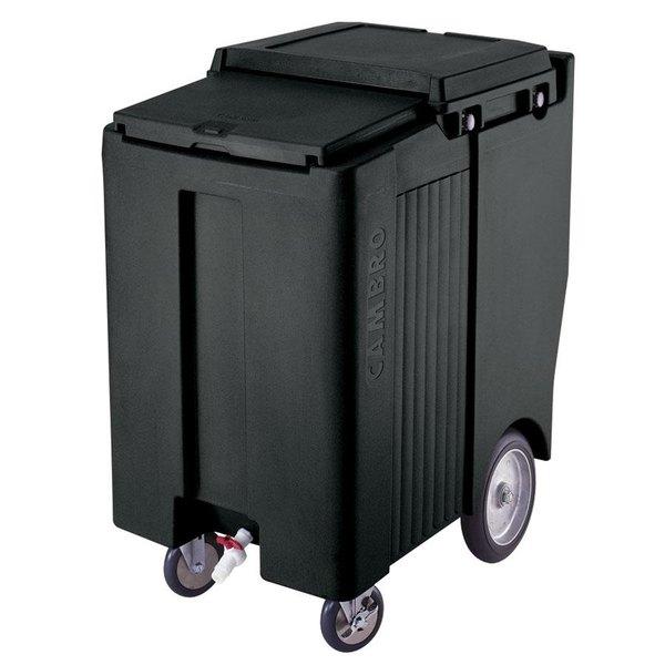 Cambro ICS200TB110 SlidingLid™ Black Portable Ice Bin - 200 lb. Capacity Tall Model