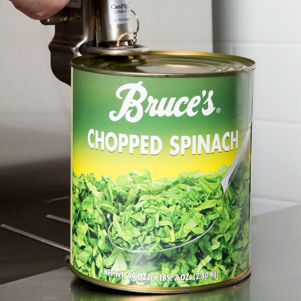 Bruce's #10 Can Chopped Spinach - 6/Case