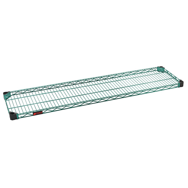 "Eagle Group QA1460VG Quad-Adjust® Valu-Gard® NSF Green Epoxy 14"" x 60"" Wire Shelf Main Image 1"
