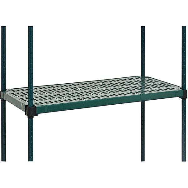 "Eagle Group QPF-QA1830VG-GL Valu-Gard® NSF Green Epoxy 18"" x 30"" Quad-Adjust® Truss Frame with QuadPLUS™ Louvered Polymer Mat Main Image 1"