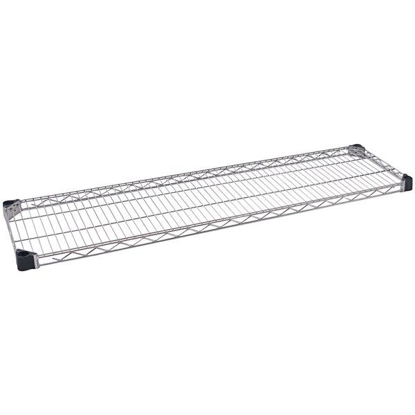 "Eagle Group QA1448Z Quad-Adjust® Eaglebrite® NSF Zinc 14"" x 48"" Wire Shelf Main Image 1"
