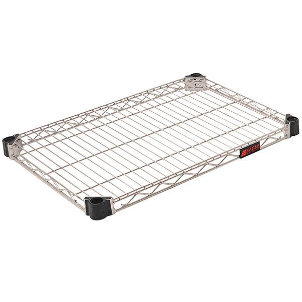 "Eagle Group QA1824C Quad-Adjust® Chrome NSF 18"" x 24"" Wire Shelf Main Image 1"