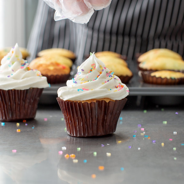 "1 1/2"" x 1"" Mini Glassine Baking / Candy Cups - 1000/Pack Main Image 4"