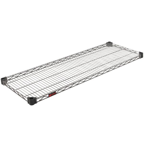 "Eagle Group QA1848V Quad-Adjust® Valu-Master® NSF Gray Epoxy 18"" x 48"" Wire Shelf Main Image 1"